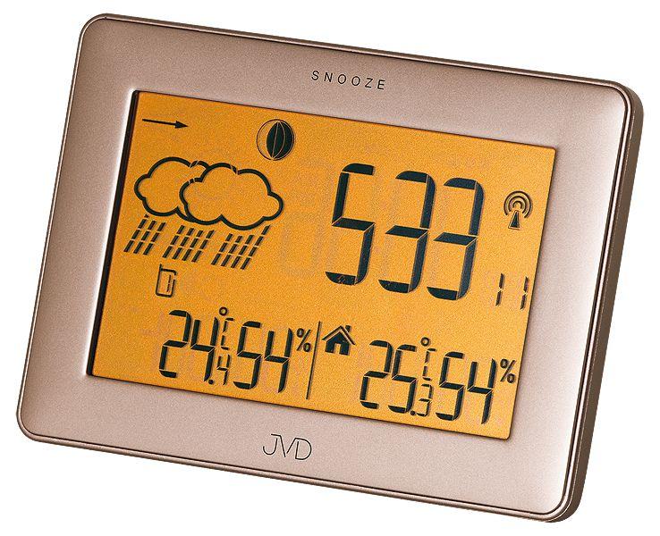 Luxusní rádiem řízená digitální dotyková meteostanice RB503 - předpověď počasí