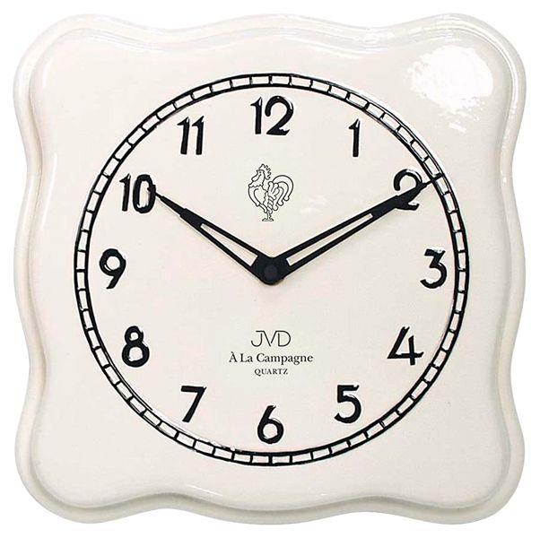 Nástěnné keramické hodiny JVD quartz TS2615.1 francouzského vzhledu