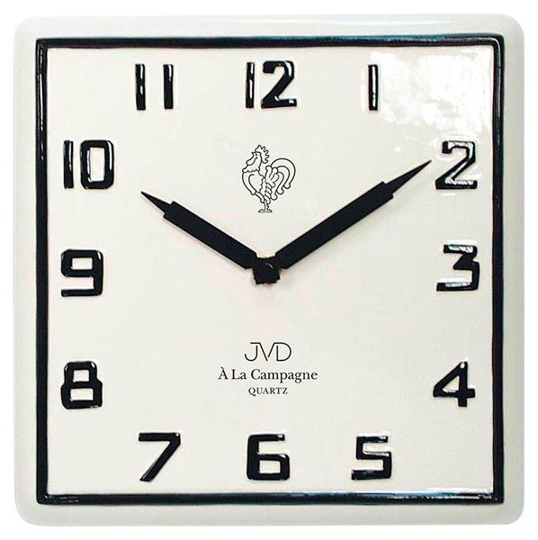 Nástěnné keramické hodiny JVD quartz TS2618.1 francouzského vzhledu