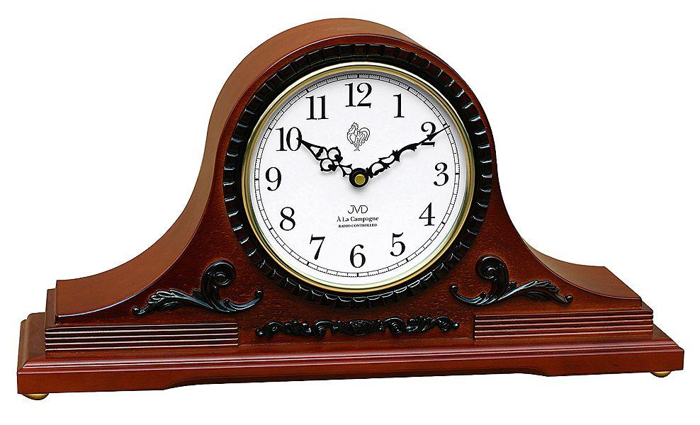 Rádiem řízené dřevěné stolní hodiny JVD NSR11.3 Á La Campagne