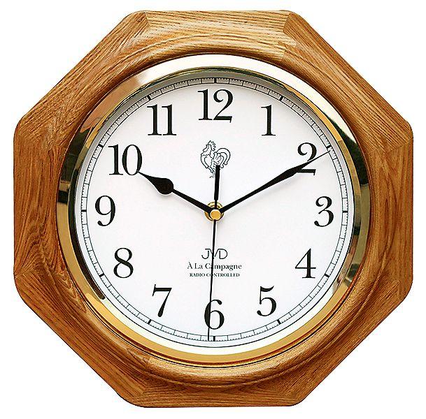 Dřevěné rádiem řízené nástěnné hodiny JVD NR7172.4 ve francouzském stylu (POŠTOVNÉ ZDARMA!!)