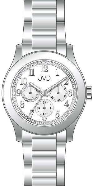 Dámské ocelové voděodolné hodinky JVD JC706.1 - chrnograf 5ATM