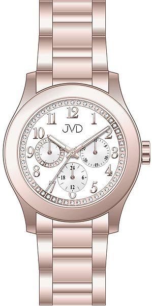 Dámské ocelové voděodolné hodinky JVD JC706.2 - chrnograf 5ATM POŠTOVNÉ  ZDARMA! 07a2a3bbdb1