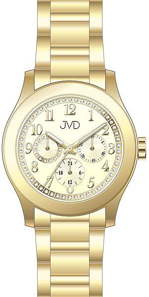 Dámské ocelové voděodolné hodinky JVD JC706.3 - chrnograf 5ATM