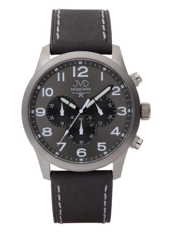 Pánský ocelový chronograf vodotěsné hodinky JVD seaplane JC628.1 - 10ATM