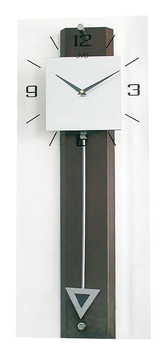 Nástěnné kyvadlové dřevěné hodiny JVD quartz N2233/23
