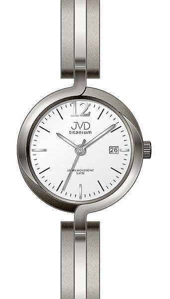 Dámské voděodolné celotitanové antialergické hodinky JVD titanium J5025.1