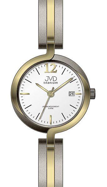 Dámské voděodolné celotitanové antialergické hodinky JVD titanium J5025.2