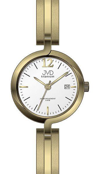 Dámské voděodolné celotitanové antialergické hodinky JVD titanium J5025.3