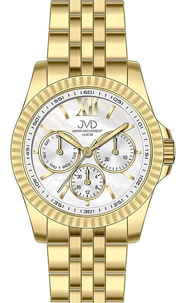 Pánský luxusní mohutný chronograf vodotěsné hodinky JVD J4141.2 10ATM