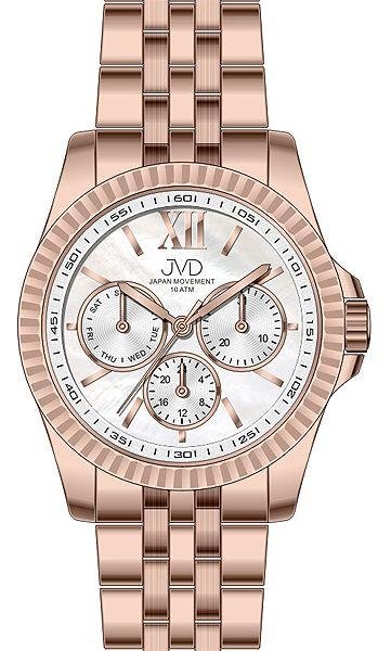 Pánský luxusní mohutný chronograf vodotěsné hodinky JVD J4141.3 10ATM
