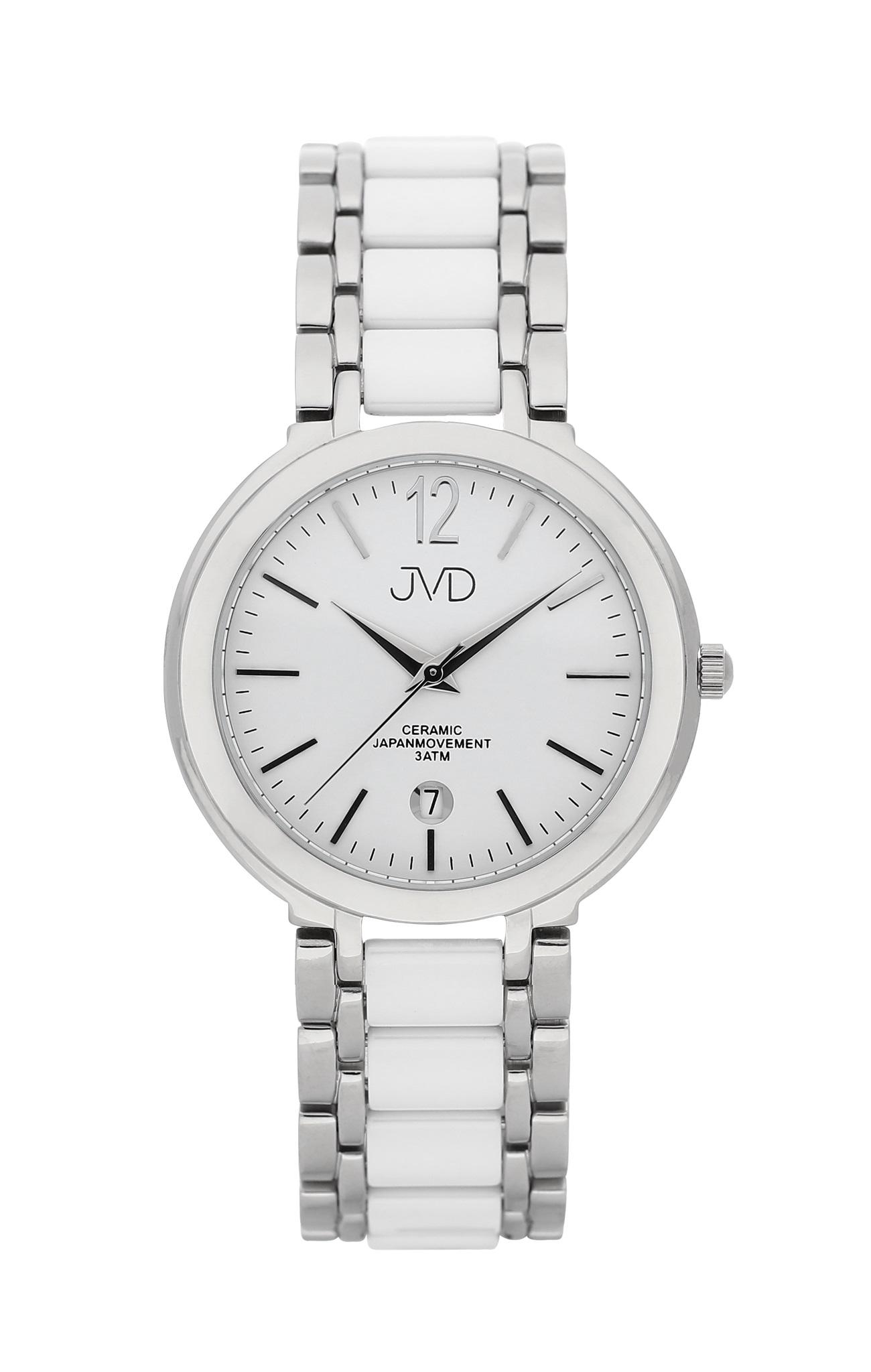 Luxusní keramické dámské náramkové hodinky JVD chronograph J1104.1 (POŠTOVNÉ ZDARMA)
