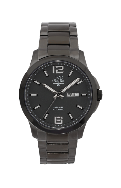 Samonatahovací automaty pánské chronografy hodinky JVD seplane JS29.4 se safírem