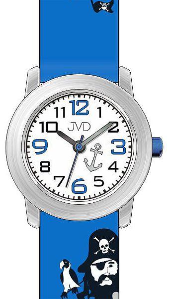 Dětské náramkové chlapecké hodinky JVD J7146.2 s jednookým pirátem