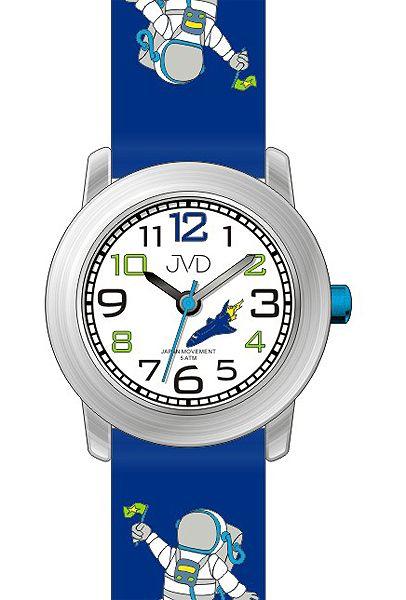 7c822179b65 Dětské modré chlapecké hodinky JVD J7154.1 s kosmonautem