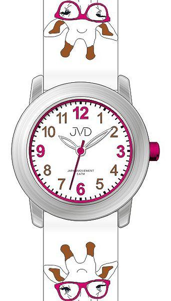 Dětské náramkové voděodolné hodinky JVD J7155.1 s kreslenou žirafou (100)