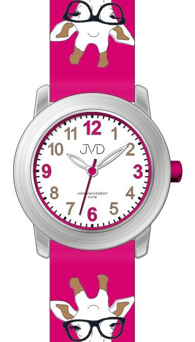 Dětské náramkové voděodolné hodinky JVD J7155.2 s kreslenou žirafou (100)