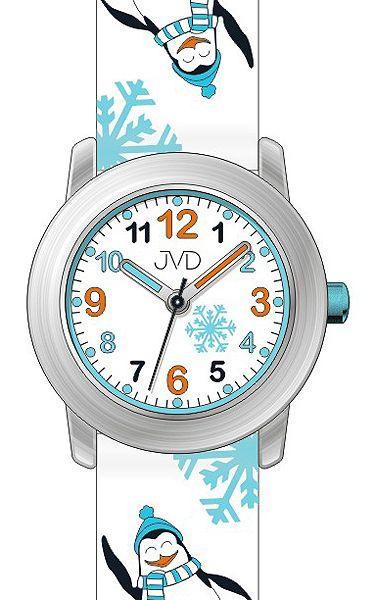 Dětské náramkové hodinky JVD J7152.1 se zimními motivy - tučňáky