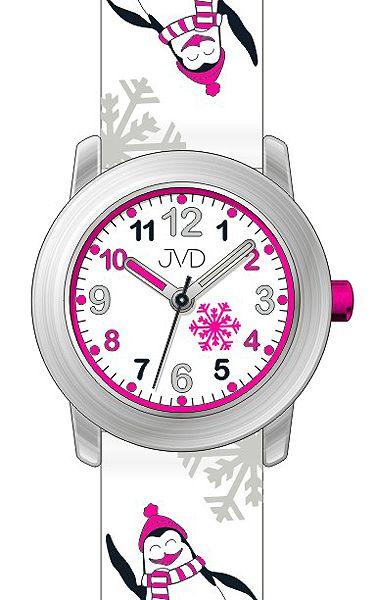 Dětské náramkové hodinky JVD J7152.2 se zimními motivy - tučnáky