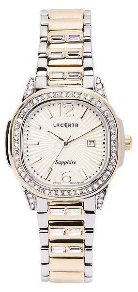 Dámské švýcarské značkové luxusní hodinky Lacerta LC202 se safírovým sklem
