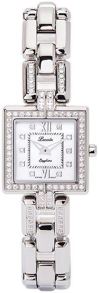 Značkové švýcarské dámské hodinky Lacerta 751 M9 592 s nepoškrabatelným sklem