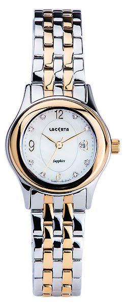 Značkové švýcarské dámské hodinky Lacerta LC402 s nepoškrabatelným sklem