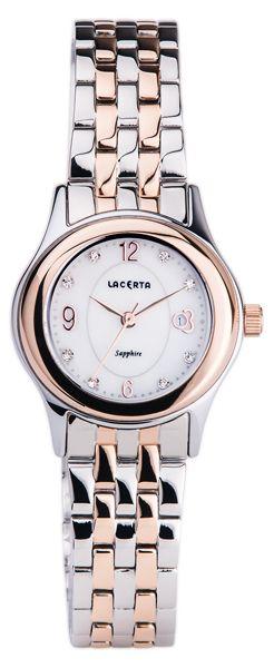 Značkové švýcarské dámské hodinky Lacerta LC403 s nepoškrabatelným sklem