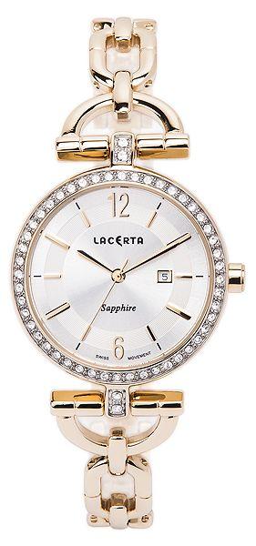 Dámské švýcarské šperkové luxusní hodinky Lacerta LC304 - safírové sklo