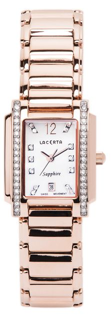 Dámské švýcarské luxusní hodinky Lacerta LC102 (baterie na 34měsíců)