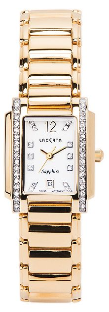 Dámské švýcarské luxusní hodinky Lacerta LC103 (baterie na 34měsíců)