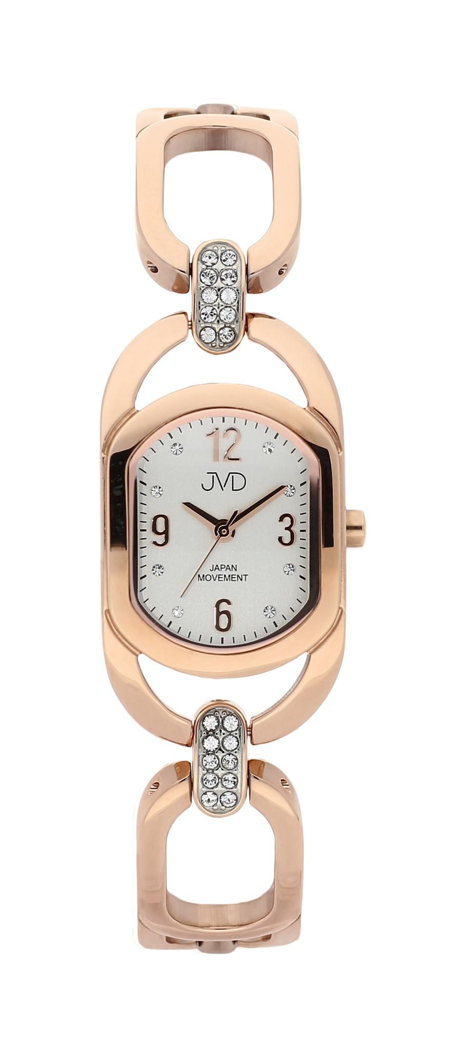 Dámské luxusní voděodolné hodinky JVD JC152.5 - 5ATM růžové zlato