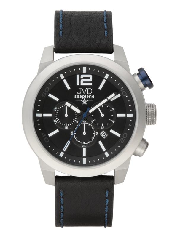 Pánské vodotěsné ocelové hodinky JVD JC651.1 - chronograf 10ATM
