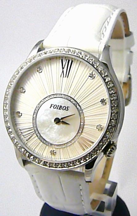 af511595071 Dámské luxusní bílé hodinky Foibos 1x70 s římskými číslicemi POŠTOVNÉ  ZDARMA!