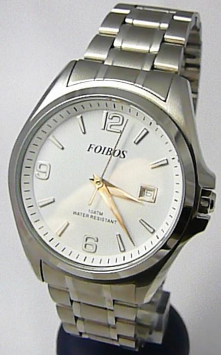 Pánské vodotěsné ocelové kovové hodinky Foibos 6276 - 10ATM