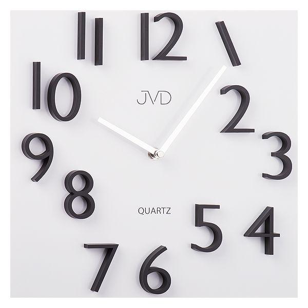 Kovové nástěnné hodiny s 3D číslicemi JVD HB17 s magenickými čísly