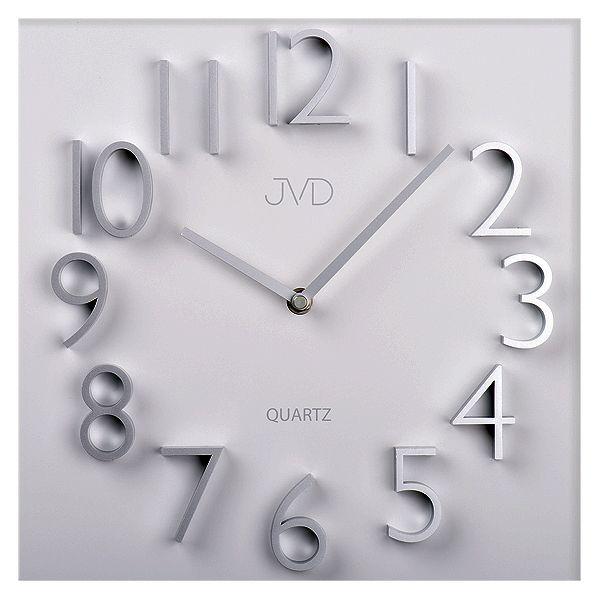Nástěnné hranaté kovové hodiny JVD HB19