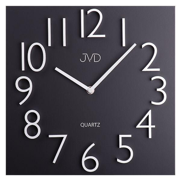 Nástěnné hranaté kovové hodiny JVD HB20