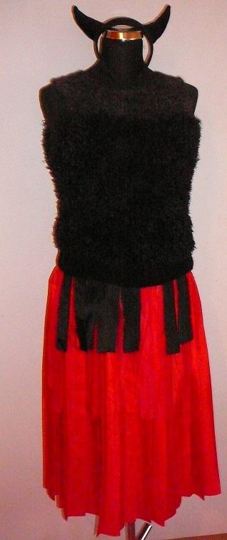 Dámský maškarní kostým čertice (Cena za půjčovné na 1-3 dny nebo víkend:)