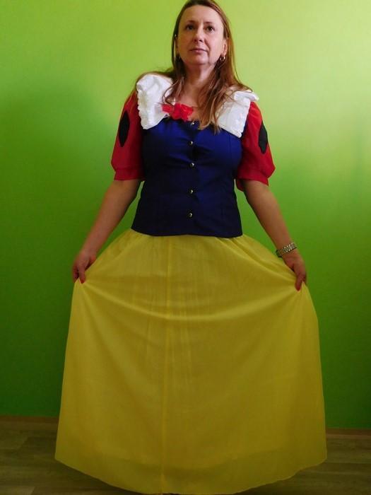 Dámský maškarní kostým Sněhurka (Cena za půjčovné na 1-3 dny nebo víkend:)