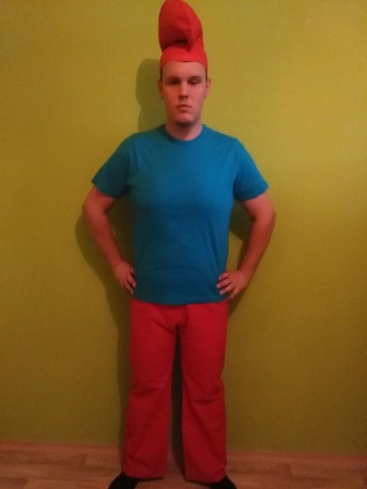 Pánský kostým Taťka šmoula (Cena za půjčovné na 1-3 dny nebo víkend:)