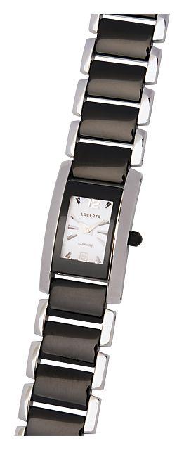 Celonerezové dámské společenské černobílé hodinky LACERTA 762H5581