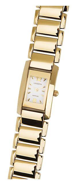 Celonerezové dámské společenské zlaté hodinky LACERTA 762H7587