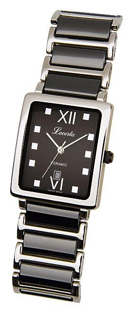 Celonerezové dámské keramické černobílé hodinky LACERTA 775485K2 (POŠTOVNÉ ZDARMA!!!)