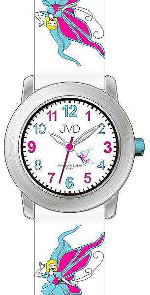 Dívčí hodinky JVD J7161.1 pro holky s motivem pohádkové víly pro malé prinezny