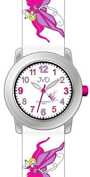Dívčí hodinky JVD J7161.2 pro holky s motivem pohádkové víly pro malé prinezny