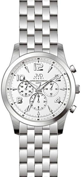 Luxusní pánské chronografy - hodinky JVD steel J1051.1 s japonským strojem SEIKO