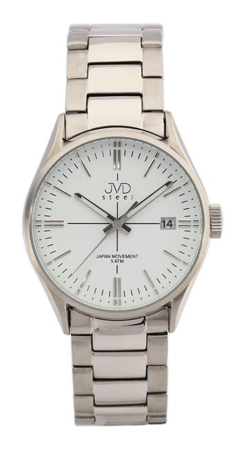 Pánské náramkové hodinky JVD steel J1057.2 s datumovkou