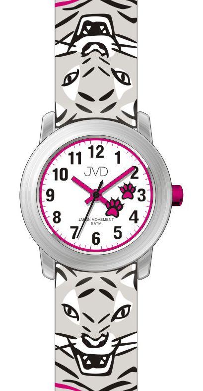 Dětské náramkové hodinky s motivem tygra JVD J7157.2