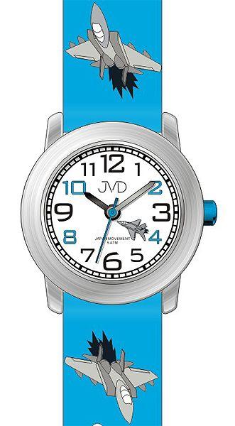 Dětské náramkové hodinky JVD J7162.1 s leteckou technikou (letadlo) 5ATM eecb6b6a531