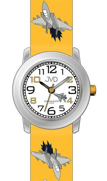 Dětské náramkové hodinky JVD J7162.2 s leteckou technikou (letadlo) 5ATM